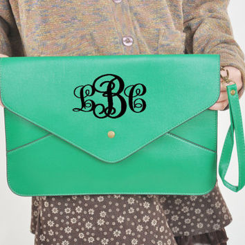 Monogram Clutch,Ladies Handbag,monogram purse,clutch purse,shoulder bag,wedding gift,bride gift,Bridesmaid package,laptop bag,Ladies Handbag