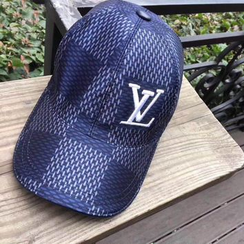 """Louis Vuitton"" Fashion Women Men Tartan Hat Cap"