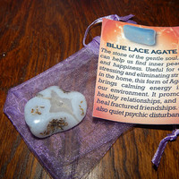 Genuine BLUELACE AGATE - Genuine Tumbled Blue Lace Agate - @1 Inch Gemstones - Bring Inner Peace, Heal Relationships, Calm Your Environment