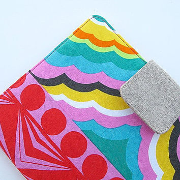 iPad Mini Cover Kindle Fire Cover Nook Simple Touch Cover Kobo Cover Case Rainbow Tribal Ethnic Multicolor Pink Red eReader