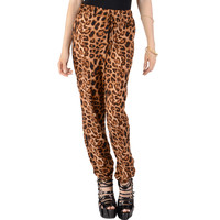 Leopard Printed Pants - Clothing