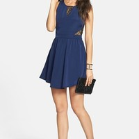 Lush Lace Inset Skater Dress (Juniors)