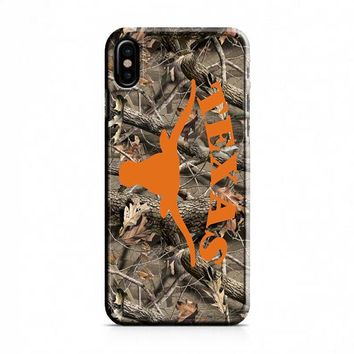 Texas Longhorns (camo branches) iPhone X Case