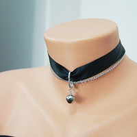 Free Ship / Choker Cat Bell Collar, Cat bell jewelry Sexy choker, Slave BDSM Costume Lolita Kawaii Halloween