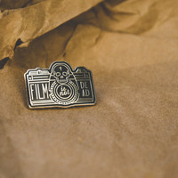 "Film Is Not Dead Enamel Pin 1"". Limited Edition of 500."
