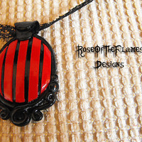Red&Black Victorian Burlesque Gothic Necklace