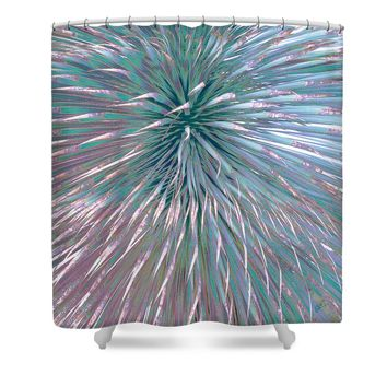 Yucca Plant Leaves Abstract Shower Curtain for Sale by Ben and Raisa Gertsberg