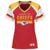 Majestic Kansas City Chiefs Draft Me Fashion Top - Women's, Size: