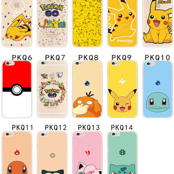 3D Cartoon Pocket Monsters Pokemon Pikachu Case For iPhone SE 5 5S & 6 6S Plus Ultrathin TPU Cover Case On 4 4s 5 5s SE 5c 6 6s