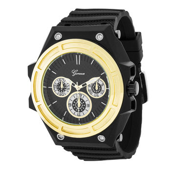 Mens Chronograph Sports Watch Gold