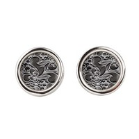 Mashed Silver By J3ll3y Round Cufflinks> Cufflinks> The Afterlife Online Clothing