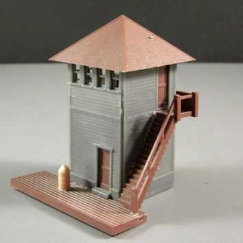 HO Scale Control Tower Building for Train Layout from UBlinkItsGone