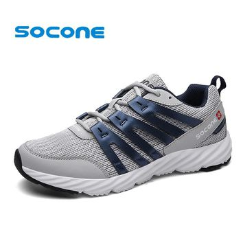 Socone Breathable Sport Shoes Mens New 2016 Male Spring Trail Running Shoes Men Training Sneakers Outdoor Walking Shoe Zapatos