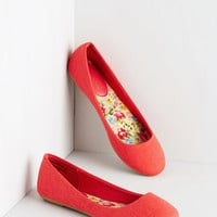 ModCloth Minimal Bright About Now Flat in Poppy