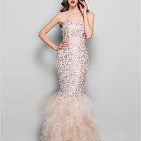 Trumpet/Mermaid Sweetheart Floor-length Lace and Tulle Evening/Prom Dress