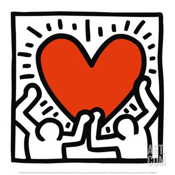 Untitled, c.1988 Art Print by Keith Haring at Art.com