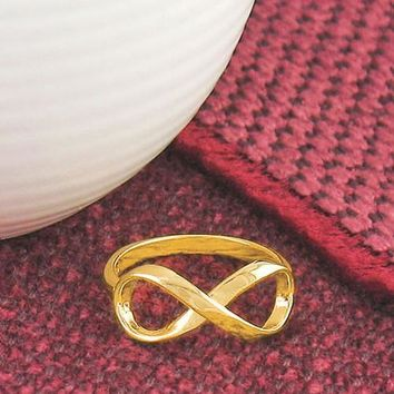 Infinity Ring - Gold Plated