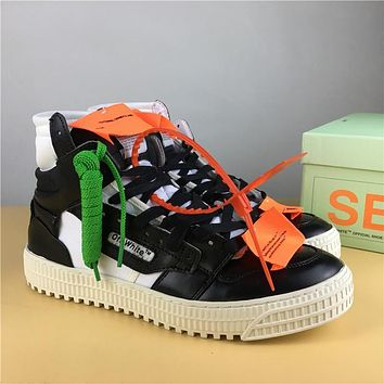 Off White Co Virgil Abloh 18ss Black/white Size 36 44 | Best Deal Online