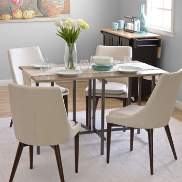 Convertible Wood Dining Table Grey | Overstock.com Shopping - The Best Deals on Dining Tables