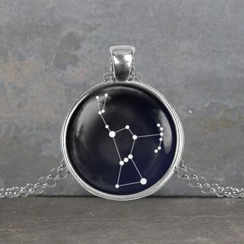 Orion constellation pendant, your choice of silver or bronze and necklace or key ring
