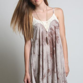 Kori America Tie Dye Cami Dress