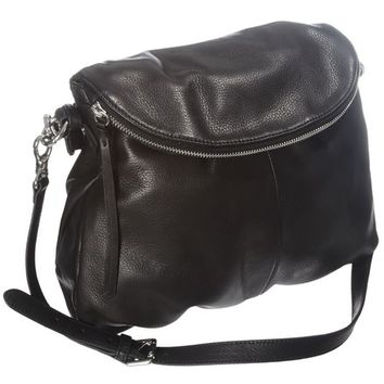 Margot Black Leather Shoulder Bag