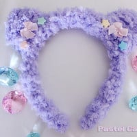 Pastel Fluffy Bear Ears (Made To Order)