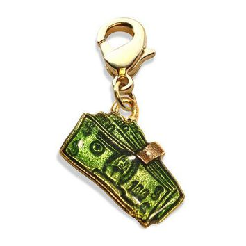 Money Clip with Money Charm Dangle in Gold