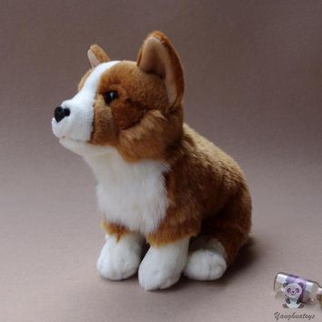 Corgi Dog Stuffed Animal Plush Toy 11""