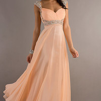 Long Cap Sleeve Prom Dress by Dave and Johnny ,2013 Spring Prom Dresses