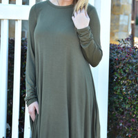 Be My Forever Dress - Olive