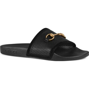 Gucci Pursuit Horsebit Slide Sandal (Women) | Nordstrom