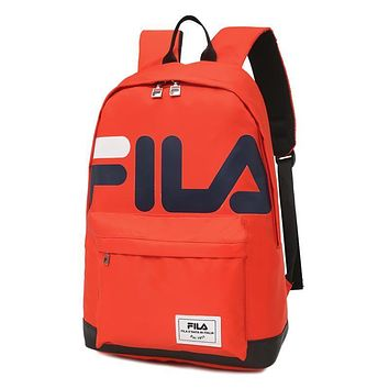 FILA Woman Men Fashion Backpack Bookbag Daypack Shoulder Bag