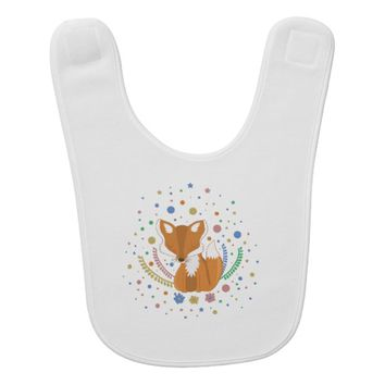 Cute Fox Baby Bib