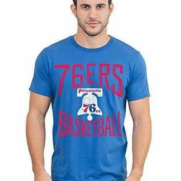 Mens Junk Food Philadelphia 76ers Garment Dyed T-Shirt