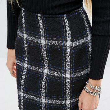 Motel Checked Wool Diaz Skirt Co-Ord at asos.com