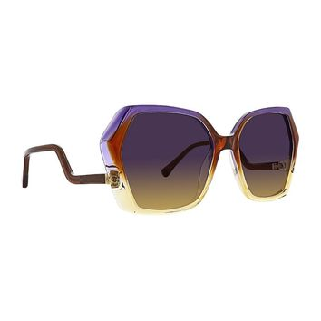 Trina Turk - Sovalye 57mm Amethyst Sunglasses / Purple Brown Lenses