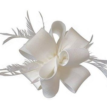 Ahugehome Fascinators Hair Clip Headband Flower Feather Wedding Tea Party Hat