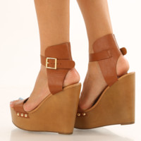 I Will Remember You Wedges: Cognac
