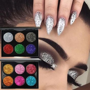 HANDAIYAN Diamond Golden Color Powder Glitter Eye Shadow Palette Shiny Eyeshadow Palette Eye Makeup Women Gfit