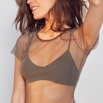 Out From Under Layer On Me Fishnet Tee | Urban Outfitters
