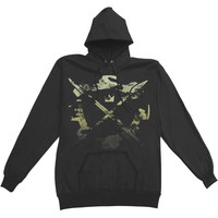 Crown The Empire Men's  Weapon Cog Hooded Sweatshirt Black Rockabilia