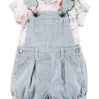 2-Piece Top & Shortalls Set