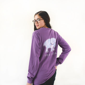 Classic Fit Lilac Zellige Tee