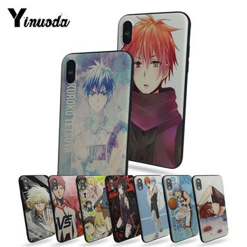 Yinuoda 551F Kuroko no Basket kawaii Tetsuya kawaii anime Black TPU Phone Case For iphone 7 7plus X 8 8plus 6s 6 6plus 5 5s 5c