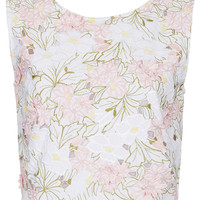 Embroidered Flower Crop - New In This Week - New In - Topshop USA