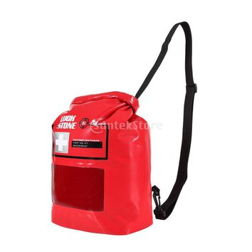 8L Roll Top Waterproof Emergency Empty First Aid Kit Dry Stuff Sack Pouch Shoulder Bag for Outdoor Camping Kayak Rafting Travel