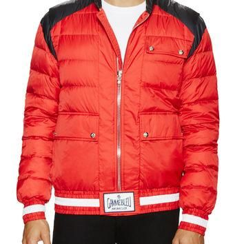 Moncler Gamme Bleu Men's Contrast Puffer Jacket - Red