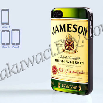 Jameson Bottle Shot - iPhone 4 case - iPhone 4S case - Samsung Galaxy S3/S4 - iPhone case - Hard Plastic - Case Soft Rubber Case