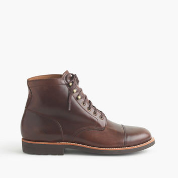 J.Crew Mens Kenton Leather Cap-Toe Boots